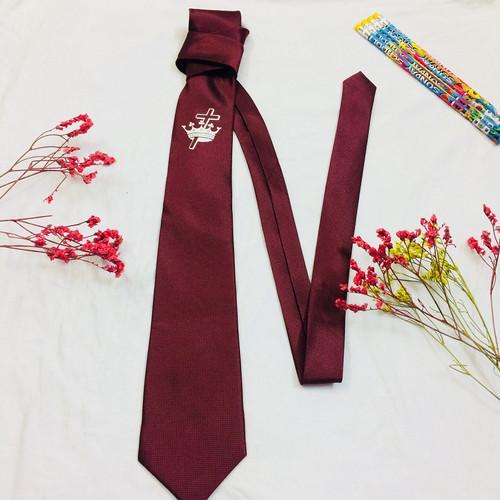 Cà Vạt - Vương Miện Thập Giá - Màu Đỏ Đô
