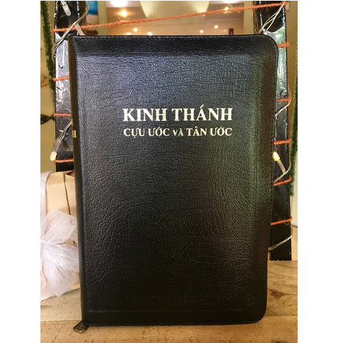 Kinh Thánh Tiếng Việt - Bản Truyền Thống - Mạ Vàng - Bìa Dây Kéo (Nhỏ)