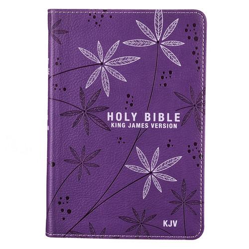 Kinh Thánh Tiếng Anh - Bản King James Version KJV - Bìa Da Màu Tím Có Chữ