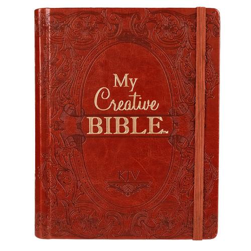 Kinh Thánh Tiếng Anh - Bản King James Version KJV - My Creative Bible - Bìa Da Màu Nâu