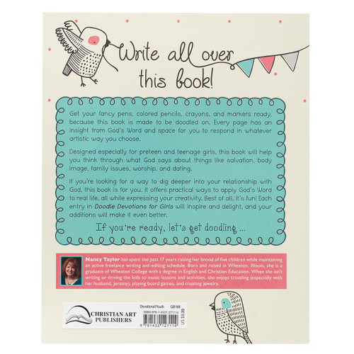 Sách bồi linh và tô màu cho các cô gái - Doodle Devotions for Girls - SA- GB166