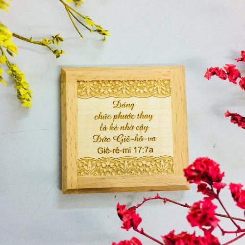 Nam Châm Dán Tủ Lạnh - Giê-rê-mi 17:7a - NC-GO-07