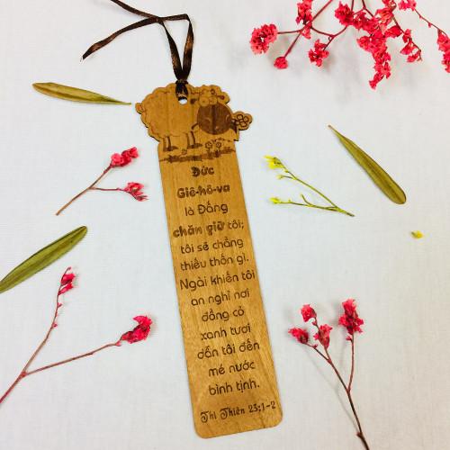 Bookmark Gỗ Lớn - Thi-thiên 23:1-2 - BM-GK-L-09