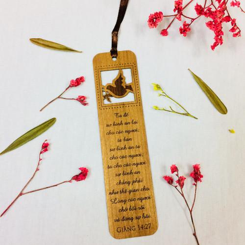 Bookmark Gỗ Lớn - Giăng 14:27 - BM-GK-L-10