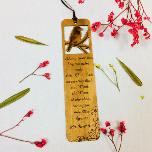 Bookmark Gỗ Lớn - Ma-thi-ơ 6:33 - BM-GK-L-27