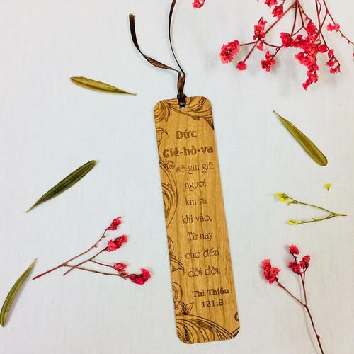 Bookmark Gỗ Lớn - Thi-thiên 121:8 - BM-GK-L-17