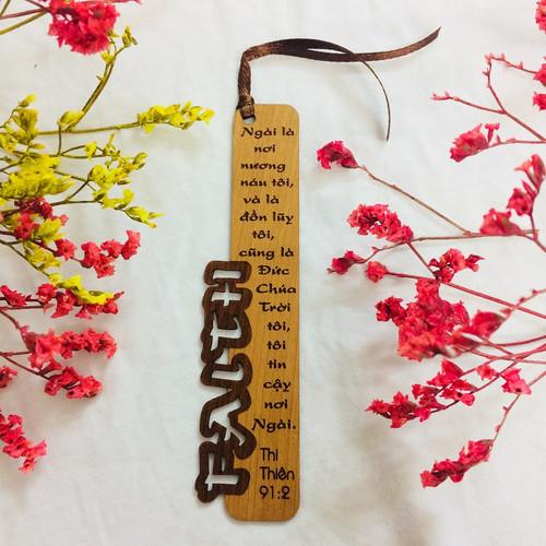 Bookmark Gỗ Nhỏ -  Faith - Thi Thiên 91:2 - BM-GK-S-02