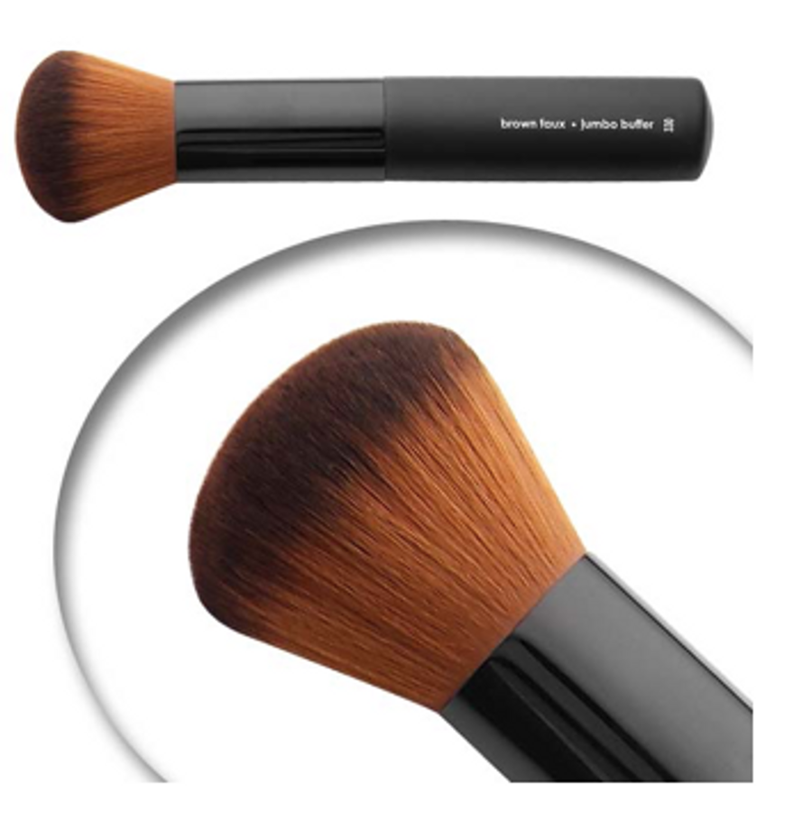 Luxurious jumbo buffer makeup brush for powder, blush and blending!
