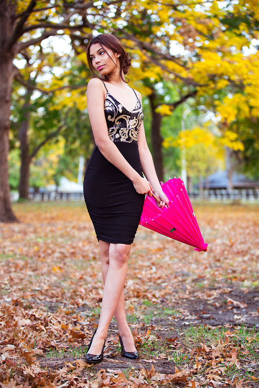 Madina Sequin Bodycon Dress WIth Ruching SIdes