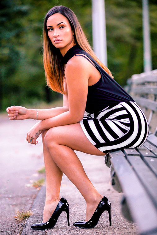 GALOPINA black and white dress