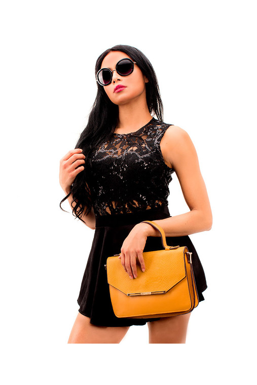 Hot Jolina Mix Romper Black