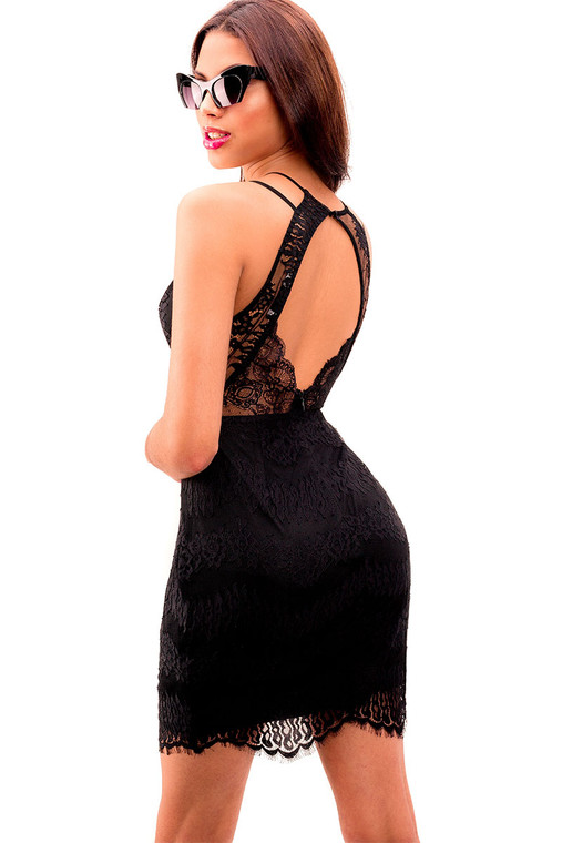 Flam Lace Bodycon Women's Dress