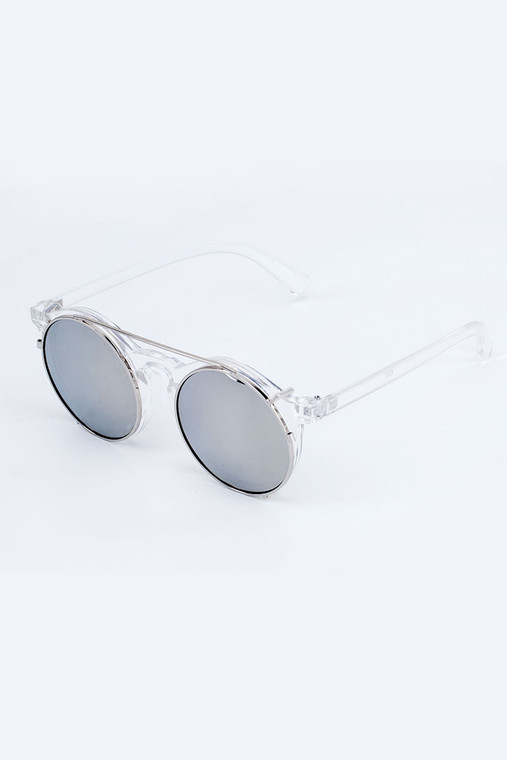 Retronia Clear White and Black Sunglasses