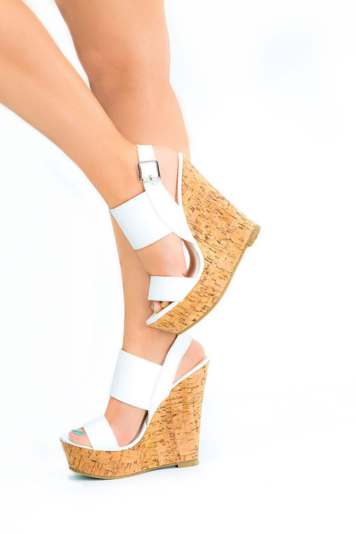 Mob Wedge Gc Shoes White