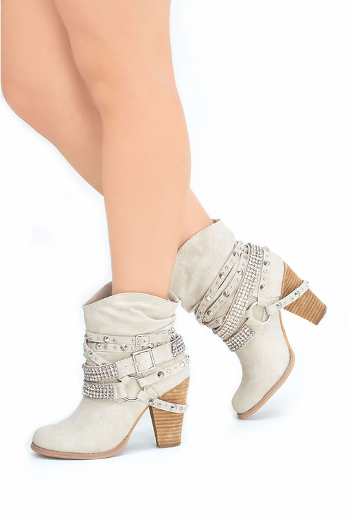 Buckle Up Ankle Bootie Natural