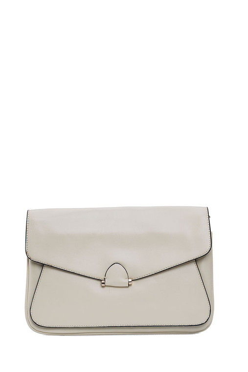 Block Large Envelope Clutch Beige