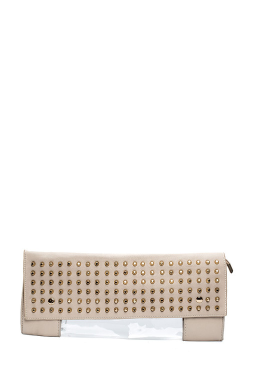 Clear Two Tone Clutch Bags