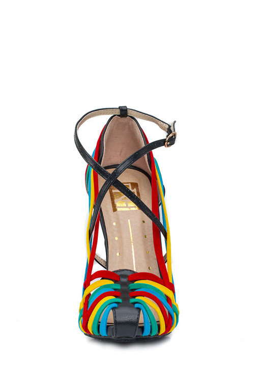 Women's Multi Color Strappy Sandals