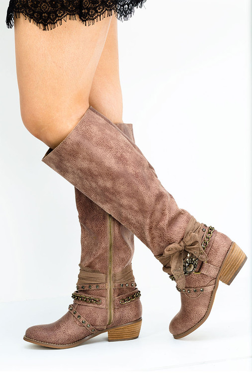Brown Not Rated Tualamne Western Boots