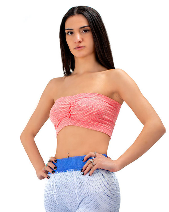 Freedom Mini Rose Zaccardi Tube Bra  Top Fusha