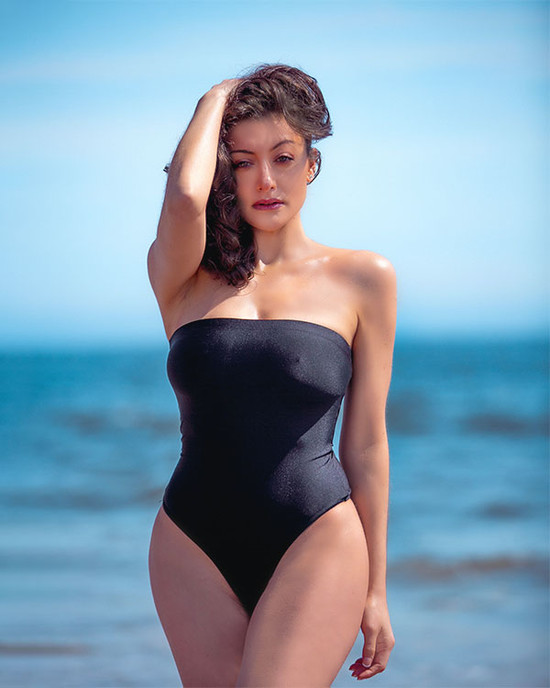 Strapless Stretch Black Bodysuit