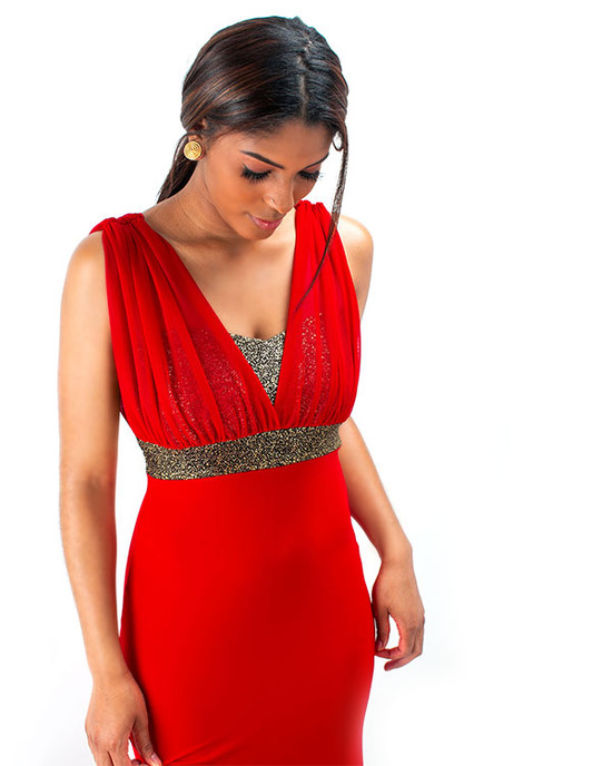Extra Red Junior Prom Maxi Dress Red