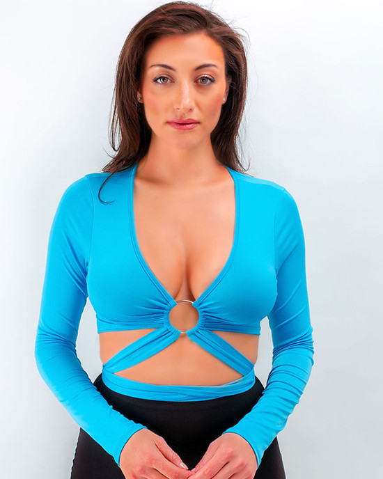 Heart breaker Two Piece set Top Long Sleeve Blue