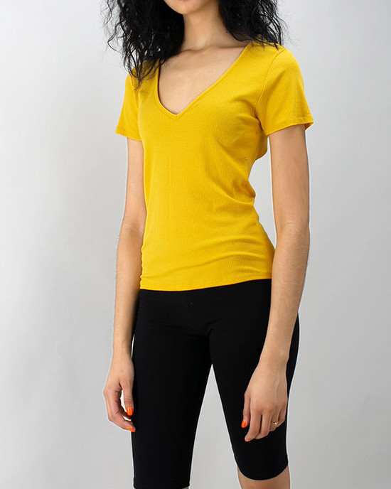 Novela Open Back Tees Yellow