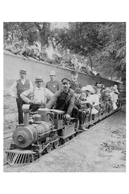 """Limited express"" - railway in Central Park, New York City, U.S.A."