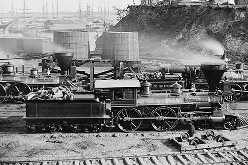 """Gen. J. C. Robinson"" and other locomotives of the U.S. Military Railroad"