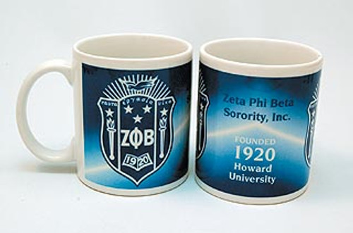 Zeta Phi Beta Coffee Mug (African American Fraternity-Sorority Mug)