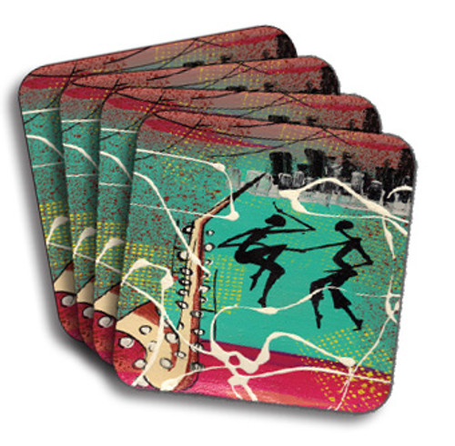 Cuban Sax Coasters (African American Coasters)