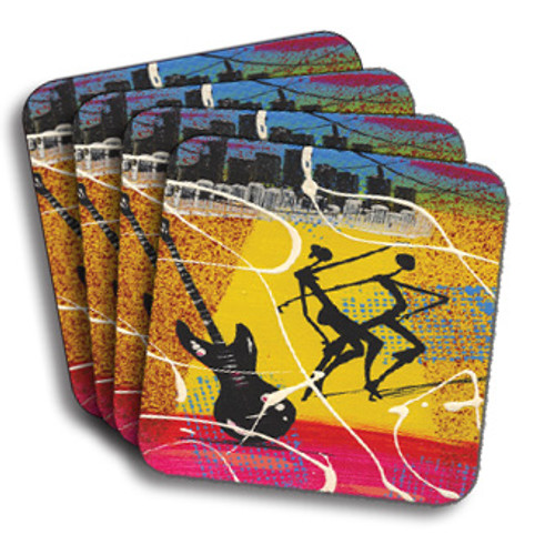 Cuban Guitar Coasters (African American Coasters)