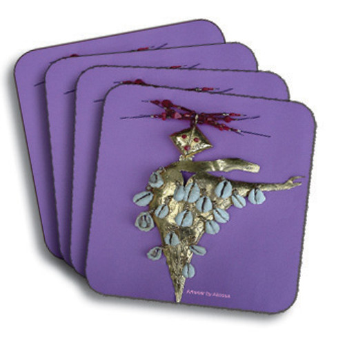 Akosua Gold Pin Coasters (African American Coasters)