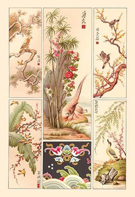 Asian Bird Panels