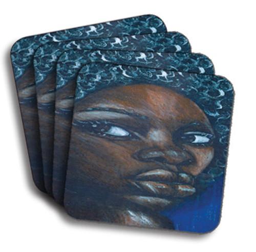 Ebony Girl Coasters (African American Coasters)