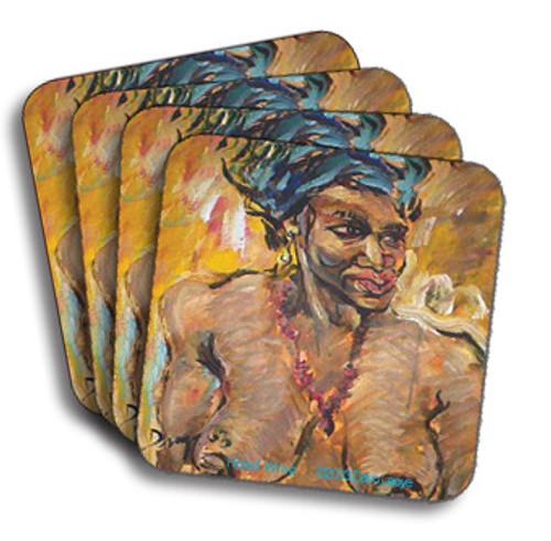 Head Wrap Coasters (African American Coasters)