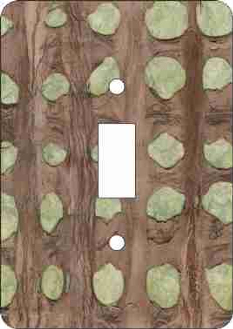 Barkskin(tm)-Olive Switch Plate (African American Single Switch Plate)