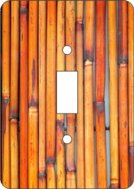 Bamboo Switch Plate (African American Single Switch Plate)