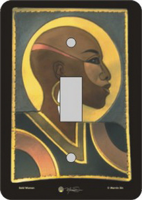 Bald Woman Switch Plate (African American Single Switch Plate)