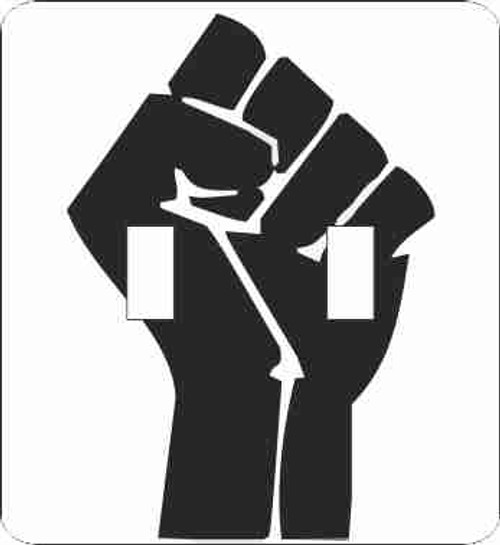 Black Power Fist Double Switch Plate (African American Double Switch Plate)