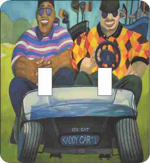 Big Boy Golf III Double Switch Plate (African American Double Switch Plate)