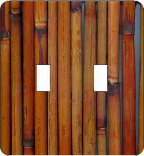 Bamboo Double Switch Plate (African American Double Switch Plate)