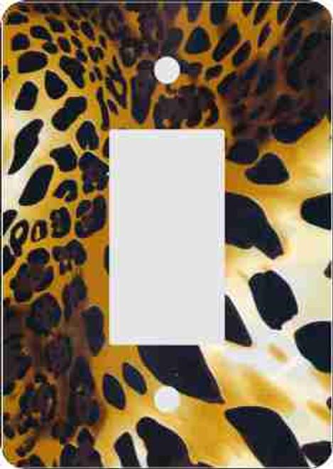 Cheetah Print Rocker Switch Plate Cover (African American Rocker Switch Plate)