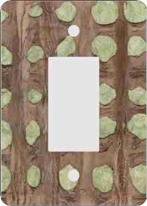 Bark Skin(tm) Olive Rocker Switch Plate (African American Rocker Switch Plate)