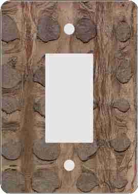 Bark Skin(tm) Cinnamon Rocker Switch Plate (African American Rocker Switch Plate)