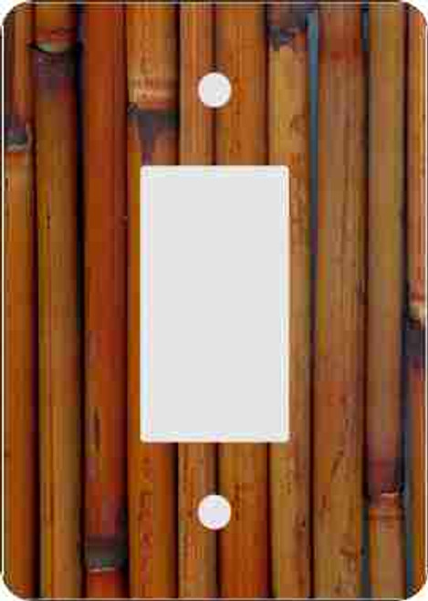 Bamboo Rocker Switch Plate (African American Rocker Switch Plate)