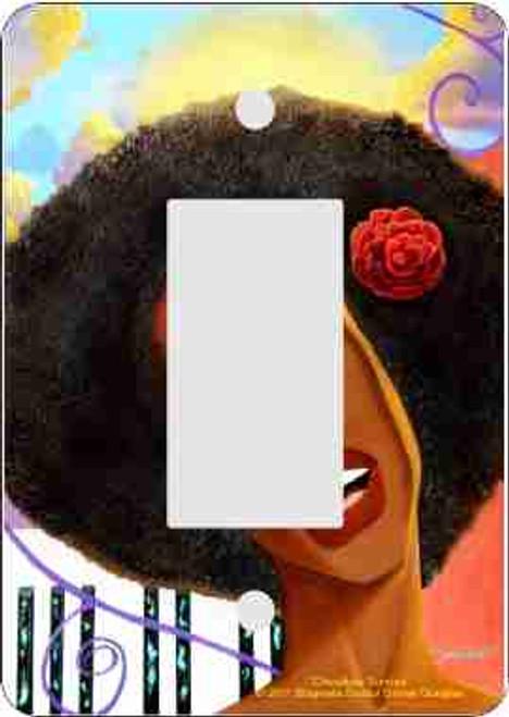 Chocolate Sunrise Rocker Switch Plate (African American Rocker Switch Plate)