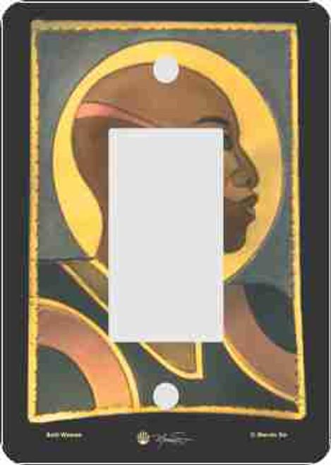 Bald Woman Rocker Switch Plate (African American Rocker Switch Plate)