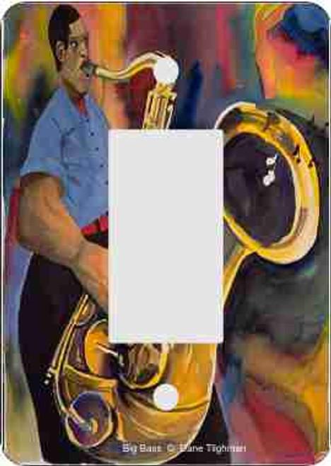 Big Bass Rocker Switch Plate (African American Rocker Switch Plate)
